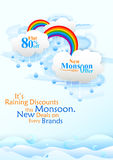 Happy Monsoon Sale Offer promotional and advertisment banner Stock Photography