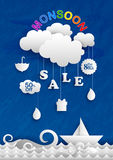 Happy Monsoon Sale Offer promotional and advertisment banner Royalty Free Stock Photo