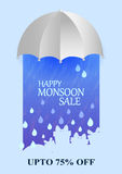 Happy Monsoon Sale Offer promotional and advertisment banner Royalty Free Stock Image