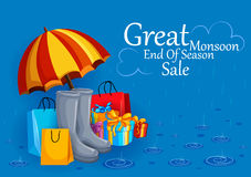 Happy Monsoon Sale Offer promotional and advertisment banner Stock Image