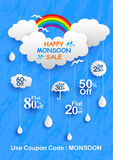 Happy Monsoon Sale Offer promotional and advertisment banner Royalty Free Stock Images