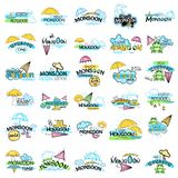 Happy Monsoon Sale Offer promotional and advertisment banner. Vector illustration of Happy Monsoon Sale Offer promotional and advertisment banner Stock Images