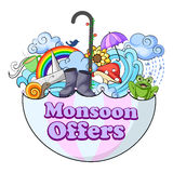 Happy Monsoon Sale Offer promotional banner Royalty Free Stock Image
