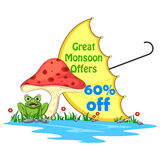 Happy Monsoon Sale Offer promotional and banner Stock Photo