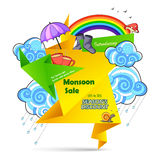 Happy Monsoon Sale Offer promotional and banner Royalty Free Stock Images