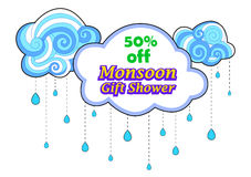 Happy Monsoon Sale Offer promotional and banner Royalty Free Stock Image