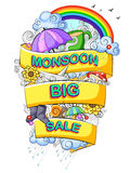 Happy Monsoon Sale Offer promotional and banner Royalty Free Stock Photos