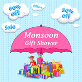 Happy Monsoon Sale Offer promotional and banner Royalty Free Stock Photo