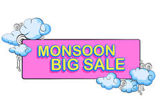 Happy Monsoon Sale Offer promotional Stock Image