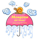 Happy Monsoon Sale Offer promotional Stock Images