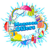 Happy Monsoon Sale Offer promotional Stock Photos