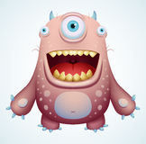 Happy Monster. Cute Cartoon Character Stock Images