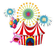 A happy monster at the carnival Royalty Free Stock Photo