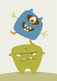 Happy Monster Illustration Royalty Free Stock Photos