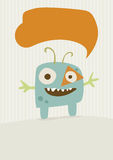Happy Monster Illustration Stock Image