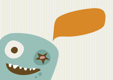 Happy Monster Illustration Royalty Free Stock Image