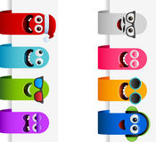 Happy monster tags. Vector illustration of happy monster tags - Separate layers for easy editing royalty free illustration