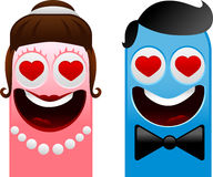 Happy monsters - bride and groom Stock Photo