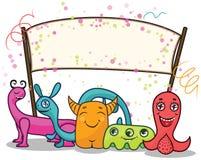 Happy monsters celebrating Stock Image