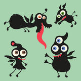 Happy monsters illustration. Set 10 Stock Photography