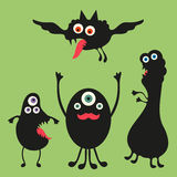 Happy monsters illustration. Set 2 Royalty Free Stock Photography