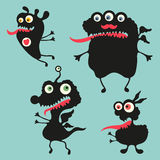 Happy monsters illustration. Set 11 Stock Photo