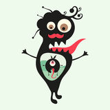 Happy monsters illustration. Set 23 Stock Image