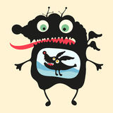 Happy monsters illustration. Set 14 Royalty Free Stock Photo