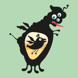 Happy monsters illustration. Set 15 Royalty Free Stock Photography