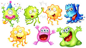 Happy monsters Stock Photography