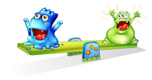 Happy monsters playing Royalty Free Stock Image