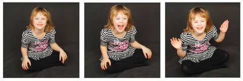 Happy Mood Child. Royalty Free Stock Images