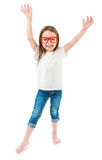 Happy mood kid in casual clothes Royalty Free Stock Photo