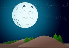 Happy moon Stock Image