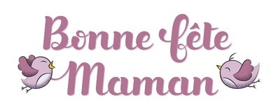 Happy Mother's Day in French : Bonne Fête Maman. Vector illustration Stock Image