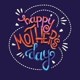 Happy Mother's Day, hand lettering typography modern poster design stock photography