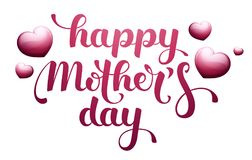 Happy Mother's Day with hearts Stock Photography