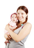 Happy mother with  2 month baby Stock Image