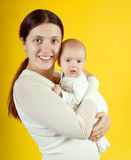 Happy mother with  2 month baby Stock Photo