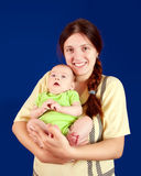 Happy mother with  3 month baby Royalty Free Stock Photo