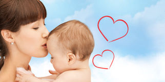 Happy mother with adorable baby Royalty Free Stock Image