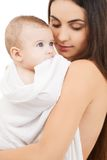 Happy mother with adorable baby Royalty Free Stock Images