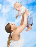 Happy mother with adorable baby Stock Image