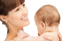 Happy mother with adorable baby Stock Images