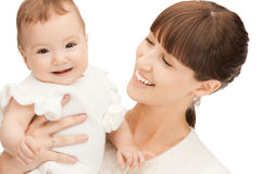 Happy mother with adorable baby Royalty Free Stock Photography