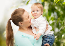 Happy mother with adorable child Stock Image