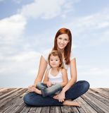 Happy mother with adorable little girl Royalty Free Stock Image