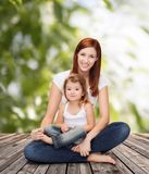 Happy mother with adorable little girl Royalty Free Stock Photography