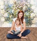 Happy mother with adorable little girl Royalty Free Stock Photos