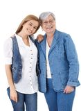 Happy mother and adult daughter smiling Royalty Free Stock Photo